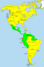 Mexico Central America And South America Map by Pre Columbian Era Wikipedia