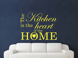 Decorative Hearts For The Home The Kitchen Is The Heart Of The Home Wall Art Sticker Text 3 Sizes