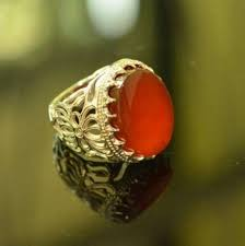 silver ring for men islam yemen agate with sterling silver sunnah