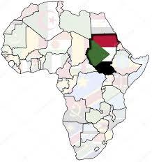 Sudan On World Map by Sudan On Africa Map U2014 Stock Photo Michal812 1797364