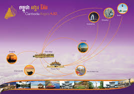 Flight Routes Map by Flight Info Route Map Cambodia Angkor Air