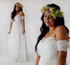 plus size collection boho off shoulder lace u0026 chiffon wedding