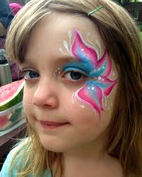 chicago face painting valery lanotte flower eye face painting