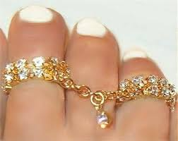 double toe rings images 2 row double rings crystal attached chains toe rings wear on 2 jpg