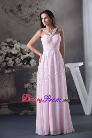 pink side zipper prom cocktail dresses with beading v neck