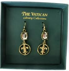 the vatican library collection plated fleur de lis vatican library collection earrings