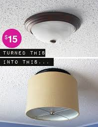 dome light fixture replacement upgrade a ceiling light with a drum shade for under 15 drum shade