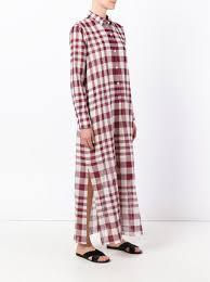 theory plaid maxi shirt dress 237 buy ss17 online fast
