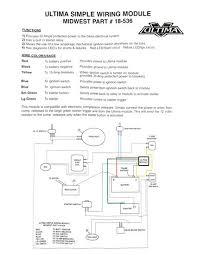 ultima simple wiring module starter relay for harley davidson