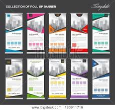 layout banner design collection roll banner design vector photo bigstock