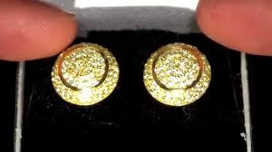 mens gold earrings men s sterling silver 14k gold disc earrings gold earrings