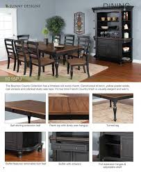 Sunny Design Furniture Prices U2022 Sunny Designs Bourbon County Pj Dining Furniture U2022 Al U0027s