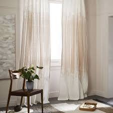 Echo Design Curtains Echo Print Curtains Set Of 2 Gold Dust West Elm