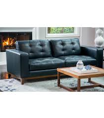 Abbyson Leather Sofa Reviews Sofas Larson Top Grain Leather Sofa