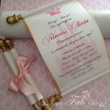 scroll wedding invitations royal disney princess scroll invitation birthday wedding