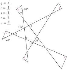 find missing angles worksheet worksheets