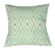 Patio Pillow Covers Two Indoor Outdoor Pillow Covers Quatrefoil Pillow Covers Aqua