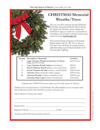 our of martyrs memorial wreaths trees and