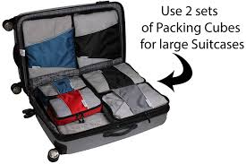Wyoming travel shoe bags images Packing cubes 4 pc set luggage organizer bonus jpg