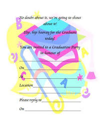 free printable invitations 40 free graduation invitation templates template lab