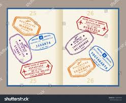 Washington travel visa images Colorful visa stamps not real on stock vector 128357438 shutterstock jpg