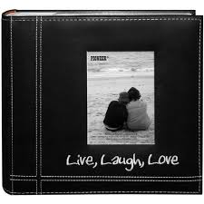 pioneer 4 x 6 in live laugh photo album 200 photos