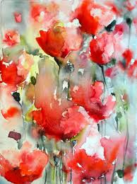 poppies karin johannesson contemporary watercolour