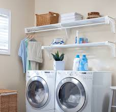 Laundry Room Accessories Storage Ez Shelf Expandable Laundry Room Shelving Kit Wall