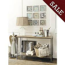 Ivory Console Table Intarsia Brown And Ivory Console Table