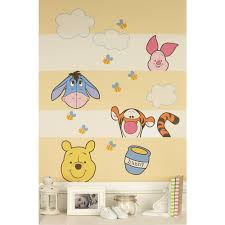 kids room nursery wall decals babies disney baby peeking pooh wall decals