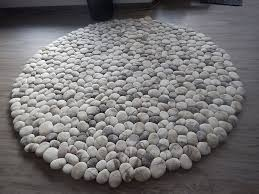 Pebble Stone Rug Amazing Felt Rugs That Look Like River Cobbles