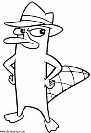 platypus coloring pages color phineas ferb phineas and ferb coloring pages things to