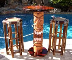 Tiki Patio Furniture by How To Build Your Own Tiki Bar Table And Stools Self Help