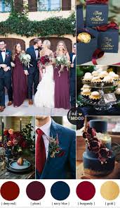 Our Wedding Day Sassy Red by Plum Burgundy And Navy Blue Wedding With Gold Accents For Fall