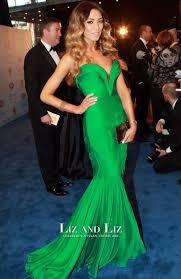 nadia coppolino emerald green strapless celebrity dress brownlow medal