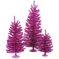 Mini Decorated Christmas Trees Vickerman Mini Décor Fuchsia Mini Tree Set U0026 Reviews Wayfair