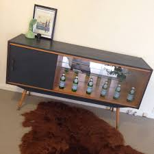 upcycled furniture sideboard buffet retro modern glass display