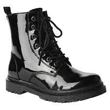 target womens boots black s reignite patent combat boot target wishlist