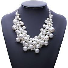 elegant pearl necklace images Elegant simulated pearl bubble necklace bargain love jpg