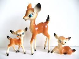 vintage deer figurines vintage reindeer decor retro