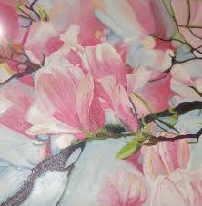 flowers painting by ewald smykomsky at gallery cafe of kathlin austin