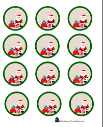free printable christmas cupcake toppers labels