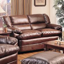 pillow arm leather sofa harper overstuffed leather love seat with pillow arms lowest price