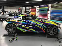 nissan 370z custom nissan 370z art car wrap design skepple inc