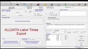 winworks autoshop add labor times from time and labor guides