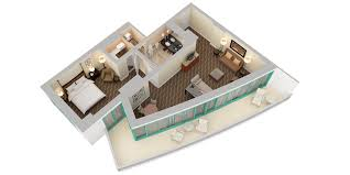 Double Bedroom Independent House Plans Curio A Collection By Hilton Beach Resort 3d Floor Plans