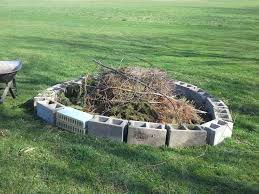 Block Firepit Building A Pit With Cinder Blocks Pit With Stones The