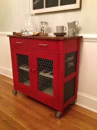 Red Kitchen Island Cart | 5 smart ideas for kitchen islands in small spaces rolling