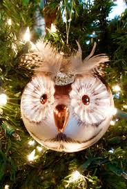 woodland themed tree ornaments glass owl living with
