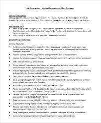 Receptionist Job Description On Resume by Receptionist Job Description Receptionist Job Description